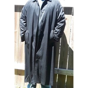 Men's Black London Fog Trench 16 R w/ Liner
